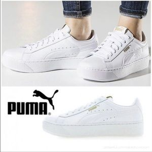 vikky platform sneaker white